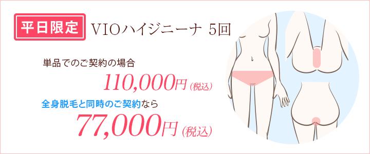 平日限定プラン VIO5回